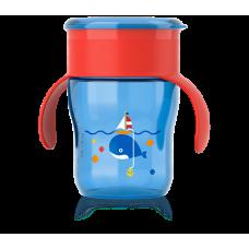 Чашка взрослая 260 мл. 9 мес+, красно-синяя  Купить