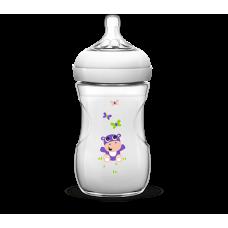 Бутылочка для кормления Natural 260 мл Бегемотик   Купить