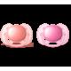 Пустышка силиконовая Ultra Soft, 6-18 мес. (уп. 2 шт.), для девочки