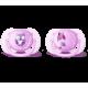 Пустышка силиконовая Ultra Soft декор, 0-6 мес. (уп. 2 шт.), для девочки