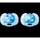 Пустышка силиконовая Ultra Soft декор, 6-18 мес. (уп. 2 шт.), для мальчика